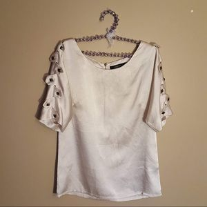 Ark & co. Cream studded blouse size small